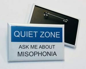 09 Quiet Zone Pin-Back Button