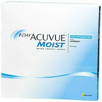 1-DAY ACUVUE MOIST for ASTIGMATISM 90 PackBy Johnson & Johnson Vision Care, Inc. (90 Lenses/Box)