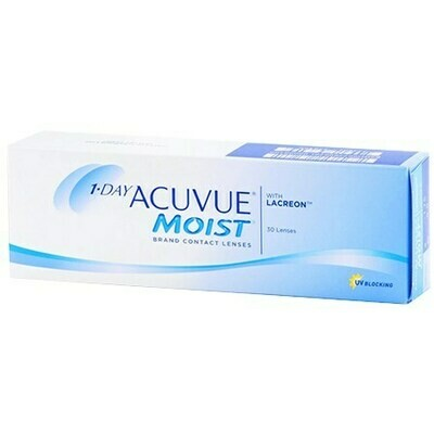 1-DAY ACUVUE MOIST 30 PackBy Johnson & Johnson Vision Care, Inc. (30 Lenses/Box)