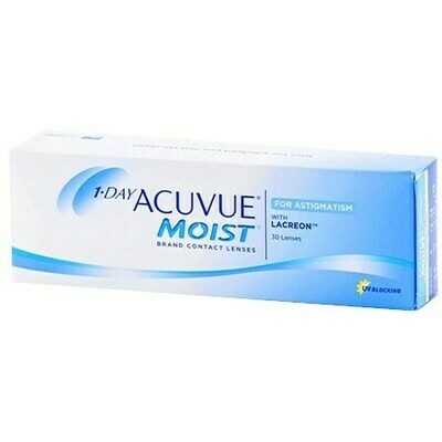 1-DAY ACUVUE MOIST for ASTIGMATISM 30 PackBy Johnson & Johnson Vision Care, Inc. (30 Lenses/Box)