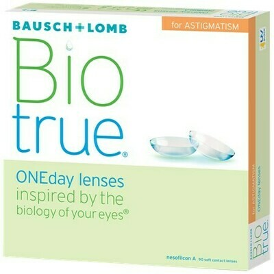 Biotrue ONEday for Astigmatism (90 pack)By Bausch + Lomb (90 Lenses/Box)