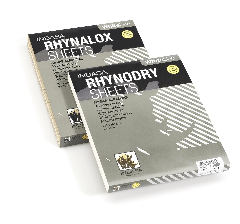 10 FOLHAS LIXA RHYNALOX WHITE  -  P180