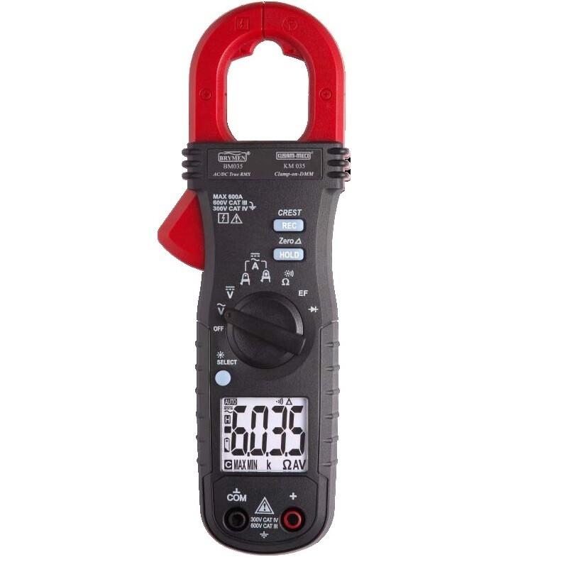 Kusam Meco KM035 600A AC/DC True RMS Digital Clampmeter with EF-Detection