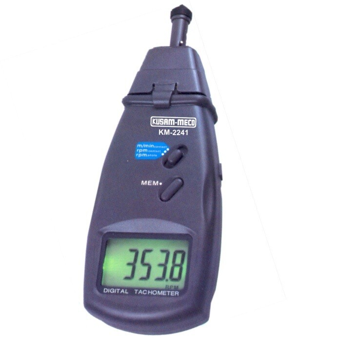 Kusam Meco KM2241 - Contact cum Non Contact Tachometer