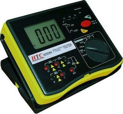 HTC 6250-IN Digital Insulation Tester 5000 Volts - 200 Giga Ohms