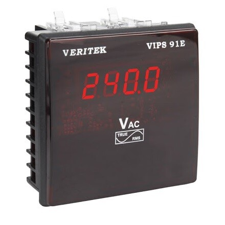 Veritek VIPS 91E Size 96 x 96 mm Single Phase Voltmeter