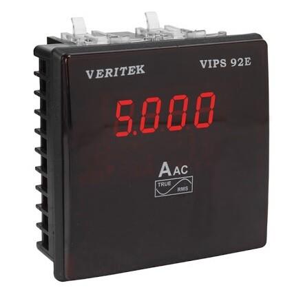 Veritek VIPS 92E Size 96 x 96 mm Single Phase Ammeter