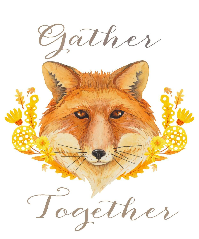 """""""Gather Together"""" Fox Fall Printable"""