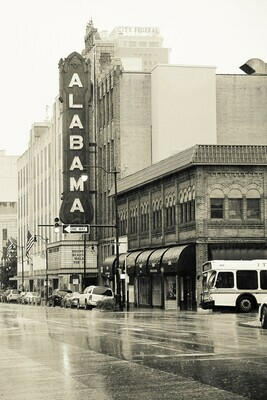 Downtown Birmingham, Alabama Sepia Photography Prints