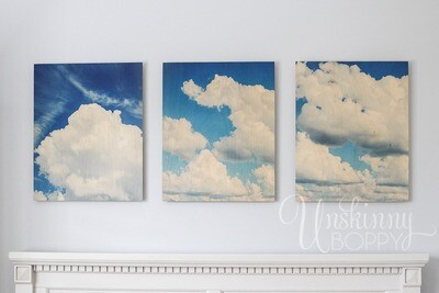Puffy White Clouds on Brilliant Blue Sky Photography