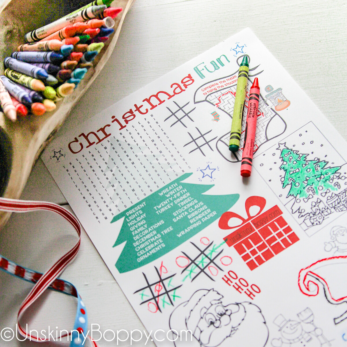 Christmas Coloring Pages for the Kids Table