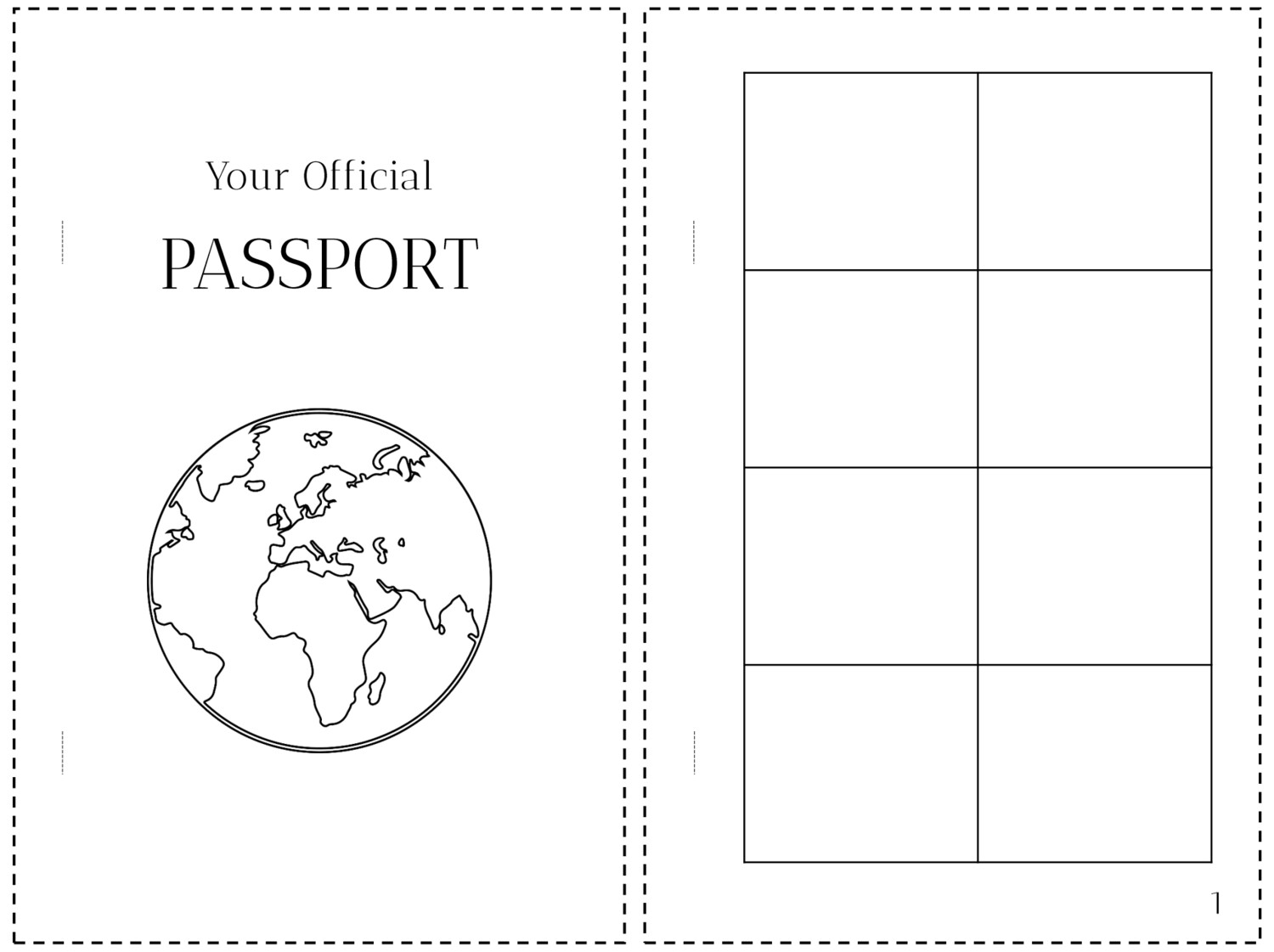 It is a graphic of Printable Passport for Kids with regard to lesson plan