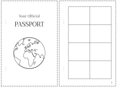 Printable Passport for Kids- Pretend Travel Adventure Kit