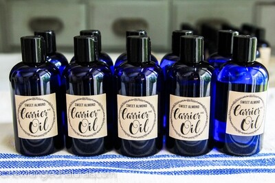 Sweet Almond Oil Labels for Essential Oil Gifts