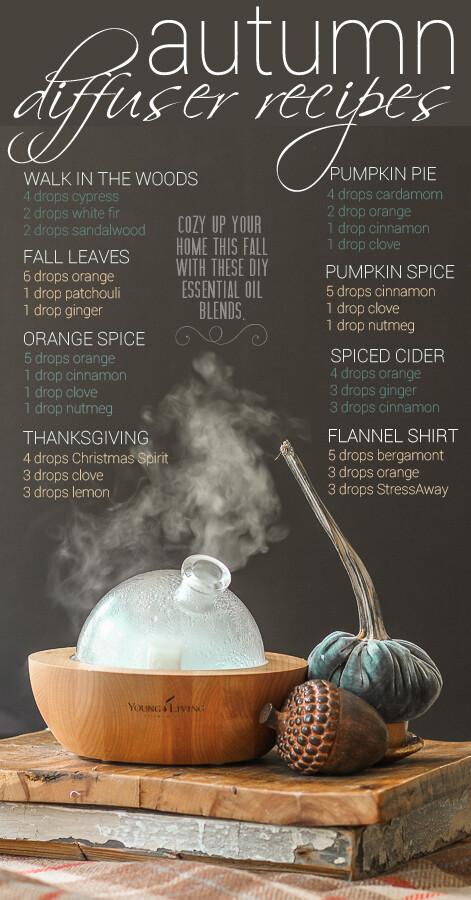 EOs: Fall Diffuser Recipes for Essential Oils