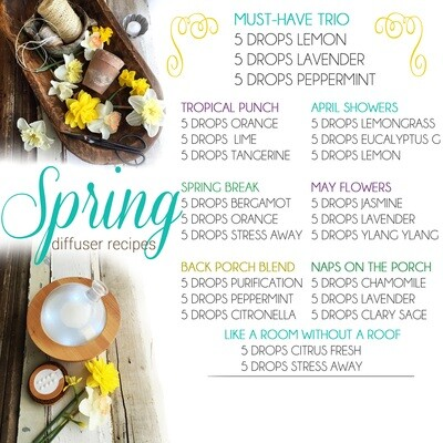 EOs: Spring Diffuser Recipes for Essential Oils