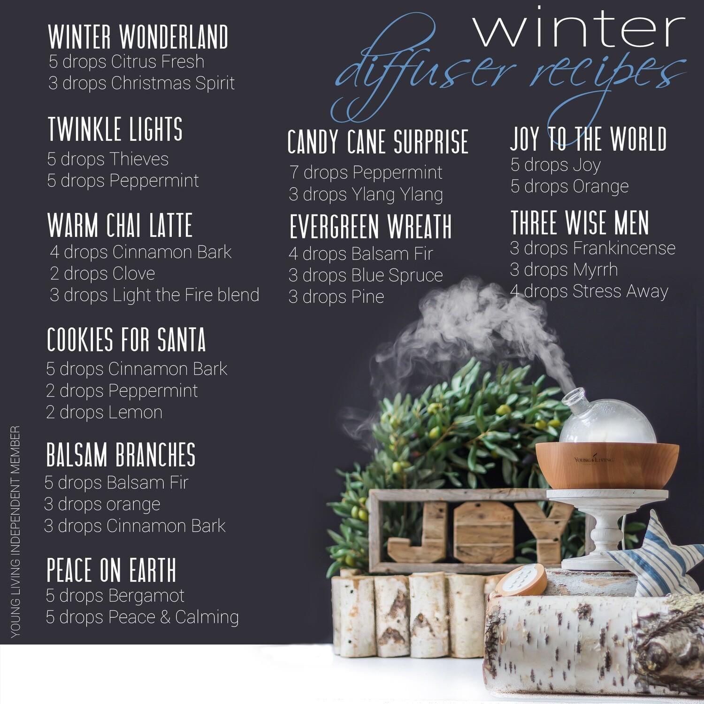 EOs: Winter Diffuser Recipes for Essential Oils