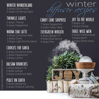 EOs: Winter Diffuser Recipes for Essential Oils