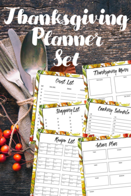 Thanksgiving Menu Planner (6 Page PDF)