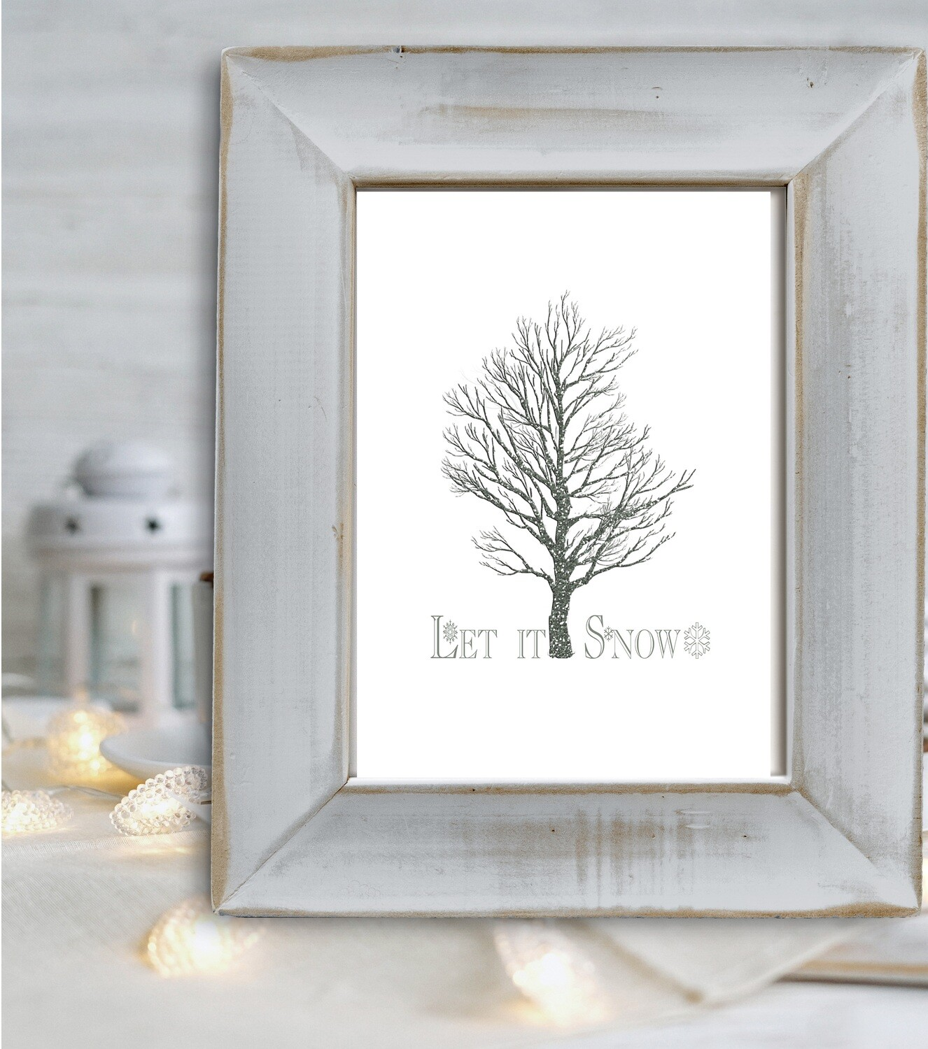 Let it Snow Free Christmas Printable