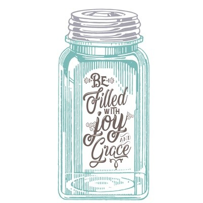 Be Filled with Joy and Grace Blue Mason Jar Printable