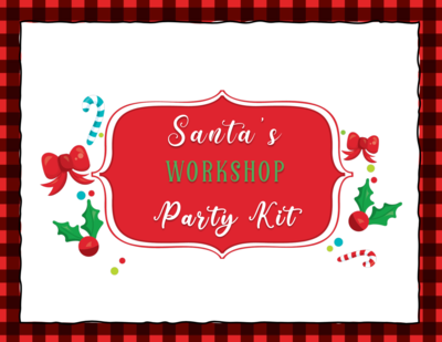 Santa's Workshop Themed Christmas Party Kit