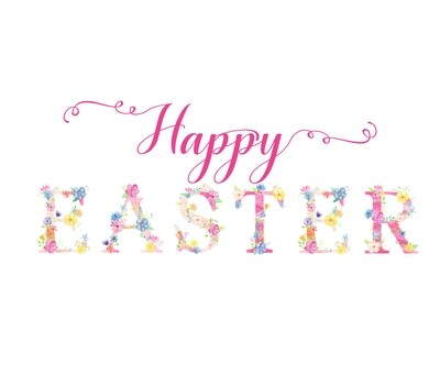 Happy Easter Floral Free Printable