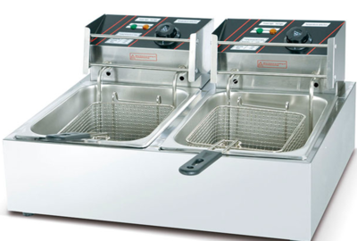 ​​Electric Deep Fryer (Double) 6 Liters - Economic