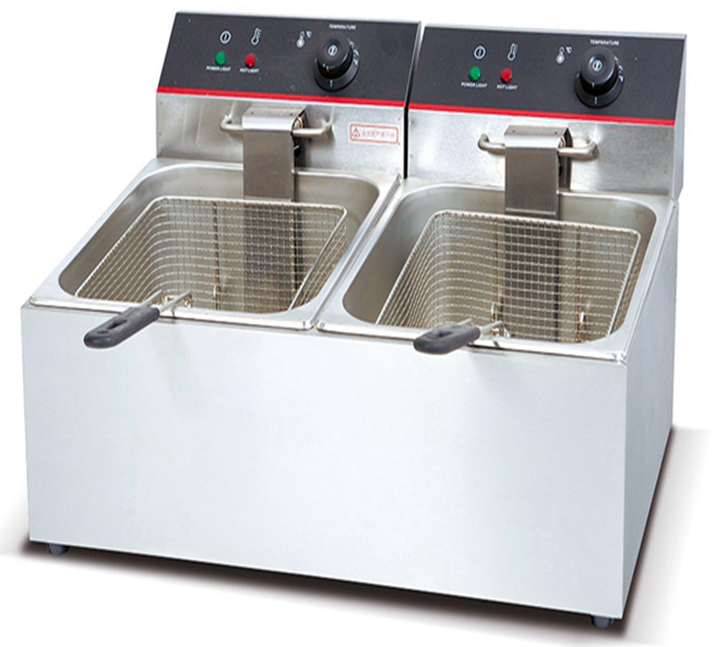 Counter Top Deep Fryer Double tank & Basket premium 6 ltr