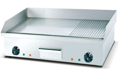 Electric Griddle - Flat & Grooved Top