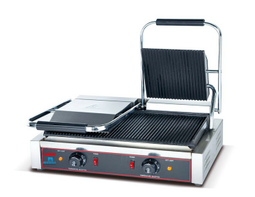 Commercial ​Double Grooved Panini Press Griller
