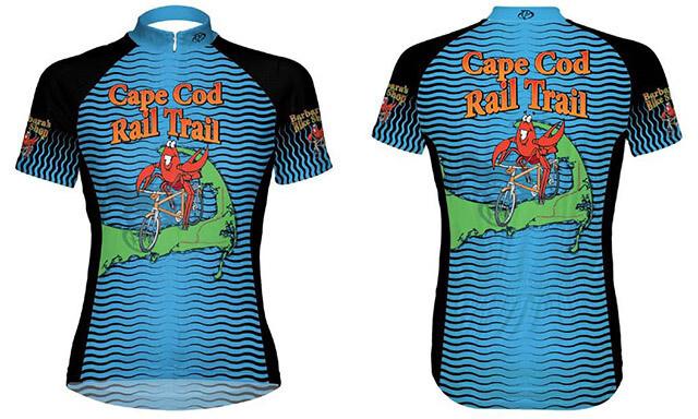 Blue Lobster bike jersey