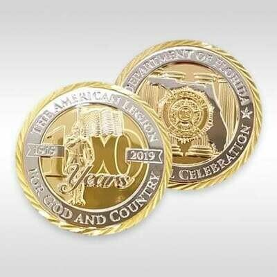 Centennial Coin .999 Silver w/14K Gold Overlay - Florida