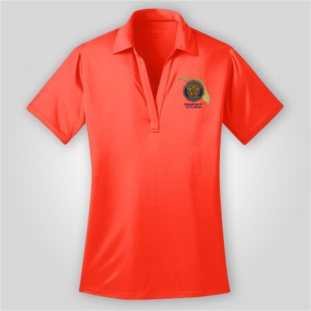 Neon Orange Polo Ladies