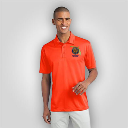 Neon Orange Polo Mens
