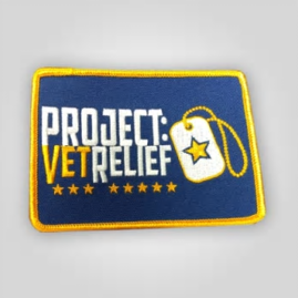 """PROJECT:VetRelief Patch 4""""x3"""""""