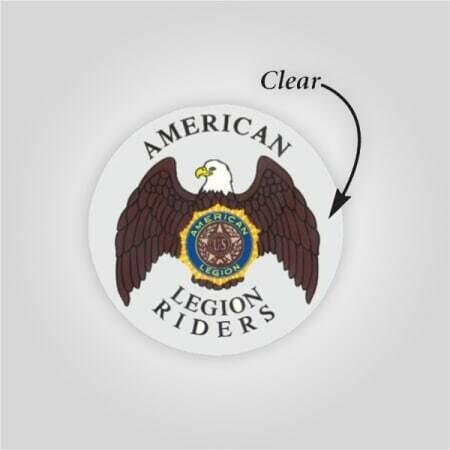 """3"""" Clear Legion Riders Decal"""