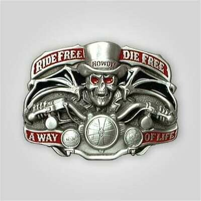 Ride Free Die Free Buckle