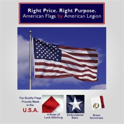 3' x 5' Deluxe Nylon American Flag