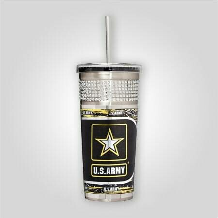 Army 16 oz Bling Tumbler