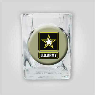 Army 2oz Emblem Shot Glass