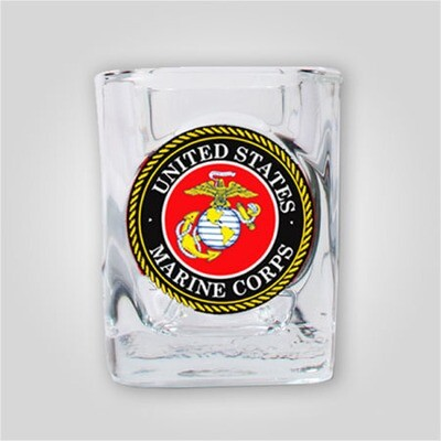 Marines 2oz Emblem Shot Glass