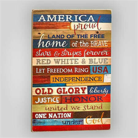 """America the Proud"" Wall Hanging"