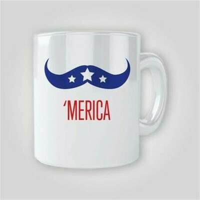 Merica Mustache 11oz Mug