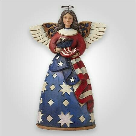 Jim Shore  Patriotic Angel Figurine