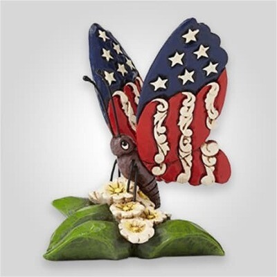 Patriotic Butterfly Figurine