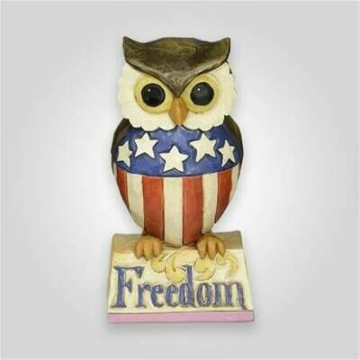 Patriotic Owl Figurine
