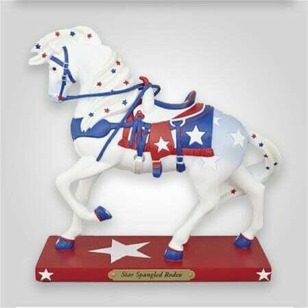 Star Spangled Horse Figurine