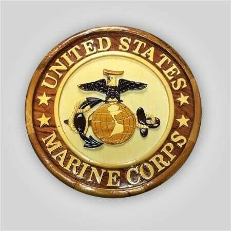 US Marine Corps Wood Plaque