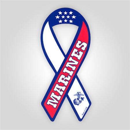 Marines Ribbon Magnet